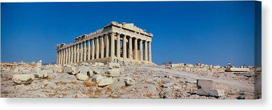 The Parthenon Canvas Print - Parthenon Athens Greece by Panoramic Images