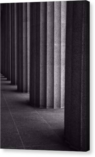The Parthenon Canvas Print - Black And White Columns by Dan Sproul
