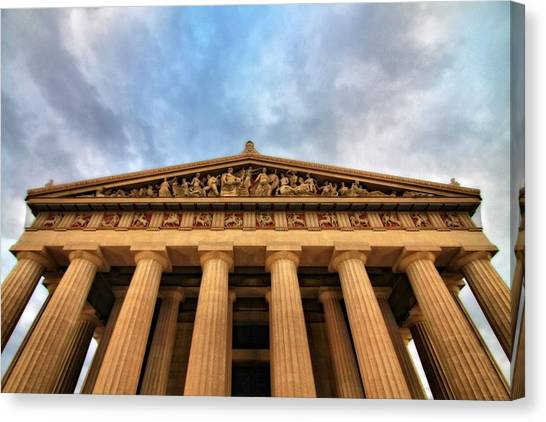 The Parthenon Canvas Print - Parthenon From Below by Dan Sproul