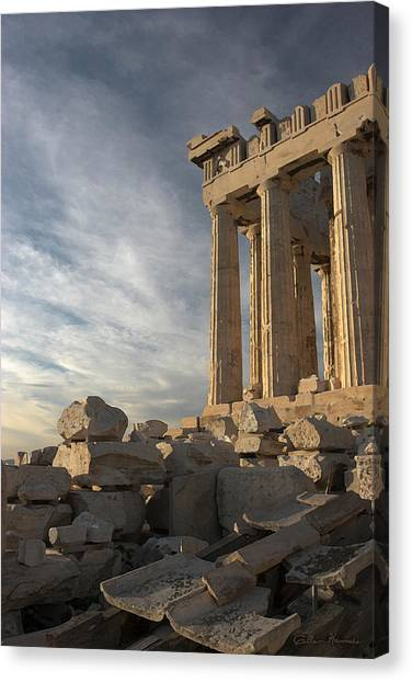 The Parthenon Canvas Print - Parthenon From The South by Ellen Henneke