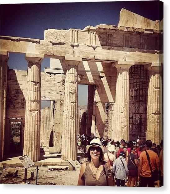 The Parthenon Canvas Print - #parthenon  #grecia by Raquel Duque