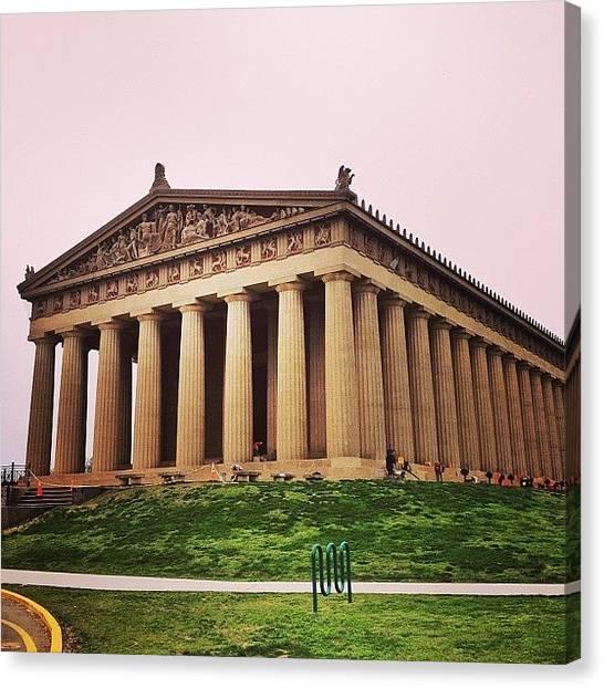 The Parthenon Canvas Print - #parthenon #nashville  #tennessee by Ellis Brewer
