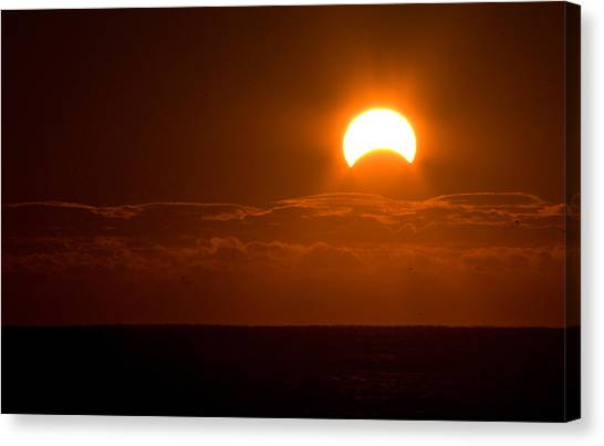 Partial  Eclipse Of The Sun Canvas Print