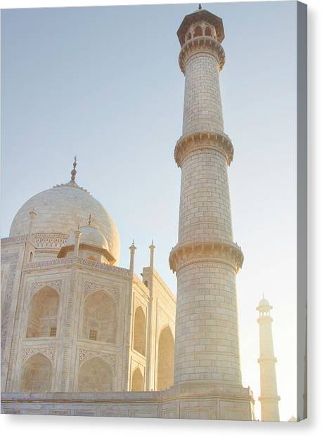 Partial View Taj Mahal Canvas Print