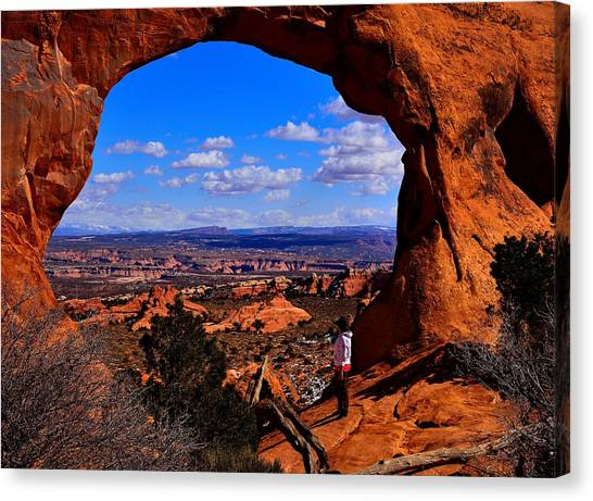 Partition Arch Canvas Print