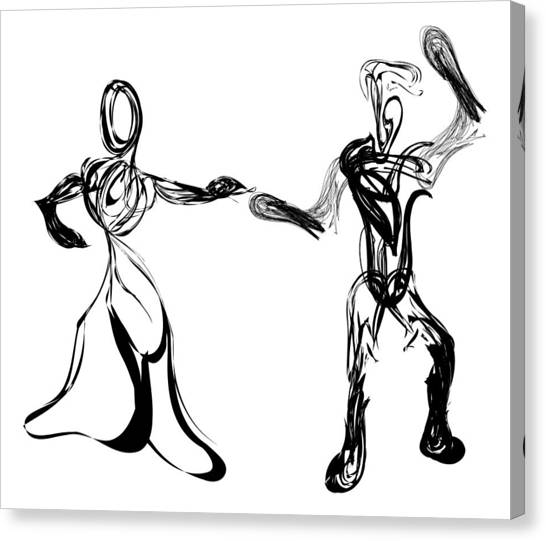 Pen And Ink Drawing Canvas Print - Partners by Michael Lee