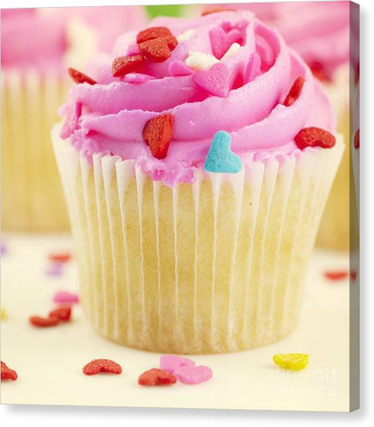 Frosting Canvas Print - Party Cake by Juli Scalzi