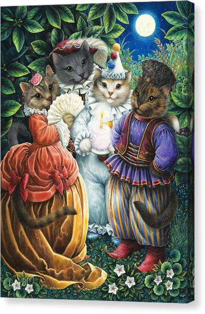 Party Cats Canvas Print