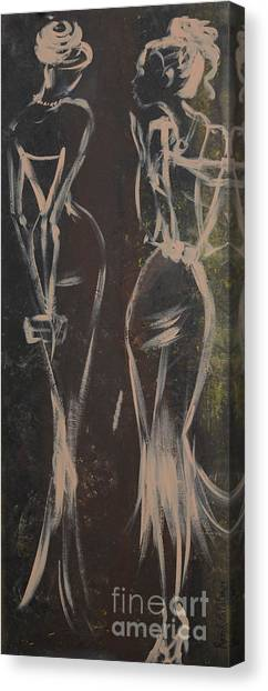 Party Ladies Canvas Print by Roni Ruth Palmer