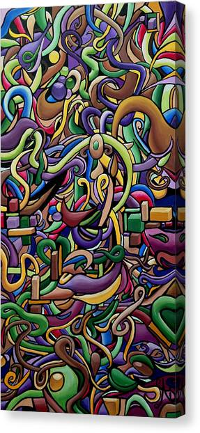 Party Life 2 - Modern Abstract Painting - Ai P. Nilson Canvas Print