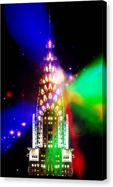 Chrysler Building Canvas Print - Party Time by Az Jackson