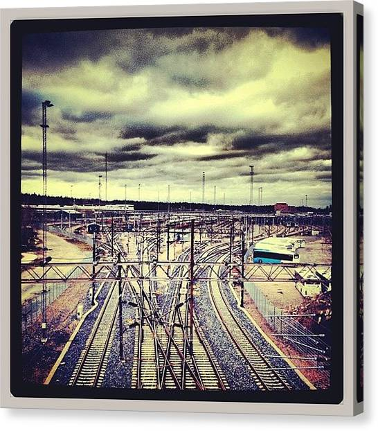 Trainspotting Canvas Print - #pasila #trainspotting #finland #train by Miki Mielonen