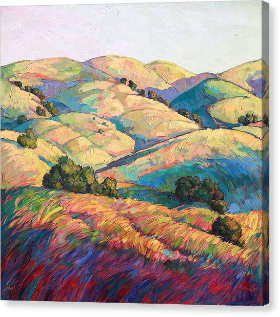 Landscape Canvas Print - Pasoscapes Diptych Left Panel by Erin Hanson