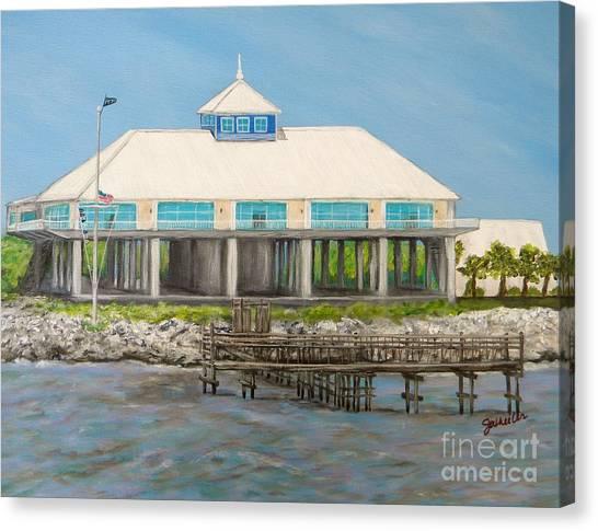 Pass Christian Yacht Club Canvas Print