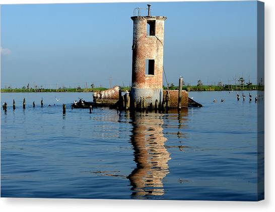 Pass Manchac Lighthouse Canvas Print