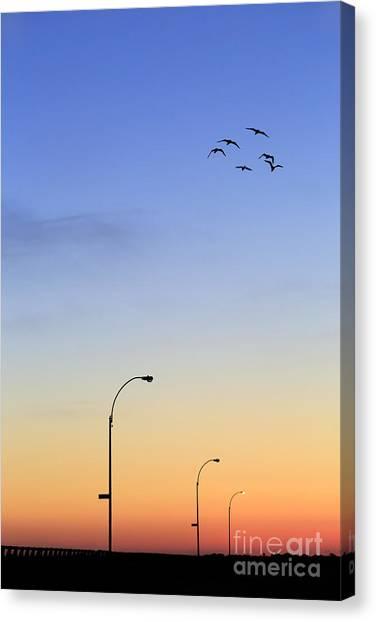 Sky Canvas Print - Passage Into Dawn by Evelina Kremsdorf