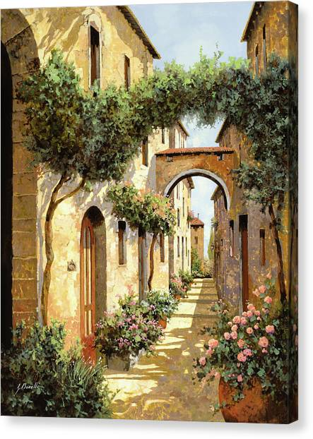 Scene Canvas Print - Passando Sotto L'arco by Guido Borelli