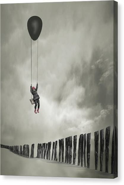 Swing Canvas Print - Passe-muraille by David Senechal Photographie