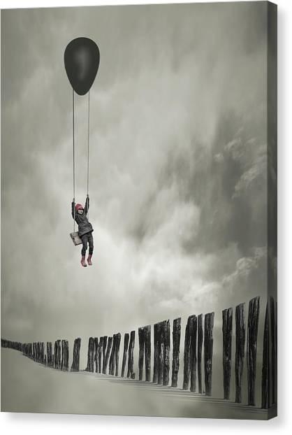 Hot Air Balloons Canvas Print - Passe-muraille by David Senechal Photographie