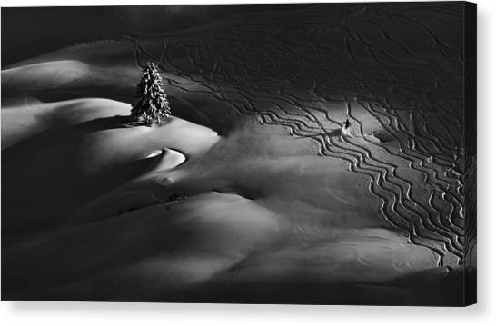 Skiing Canvas Print - Passing By by