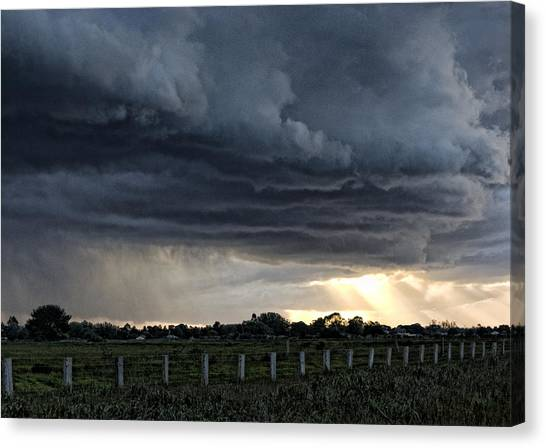Passing Storm Canvas Print by Heather Provan