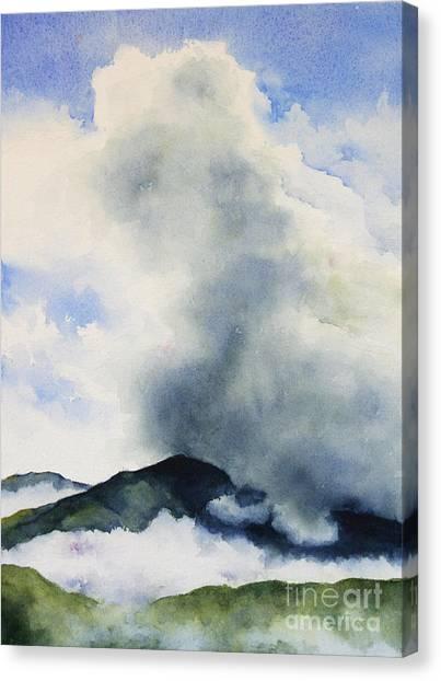 Passing Storm On Mt. Diablo Canvas Print