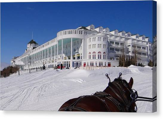 Passing The Grand Hotel Canvas Print