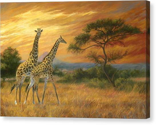 African Canvas Print - Passing Through by Lucie Bilodeau