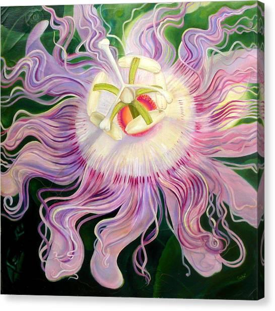 Canvas Print - Passion Flower by Anne Cameron Cutri