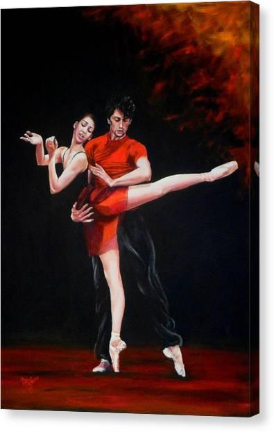 Passion In Red Canvas Print by Maren Jeskanen