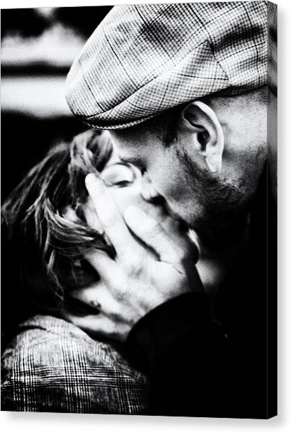 Kiss Canvas Print - Passion by Massimo Della Latta