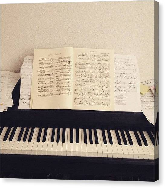 Chopin Canvas Print - #passion #piano #music #progress by Louisa Beckmann