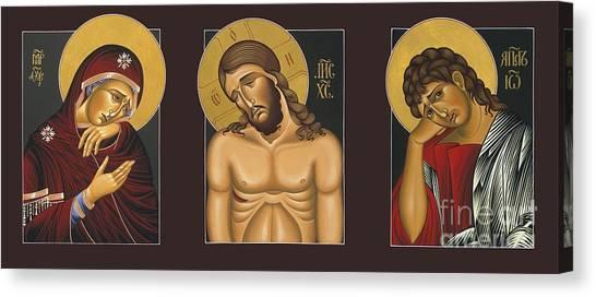 Passion Triptych Canvas Print
