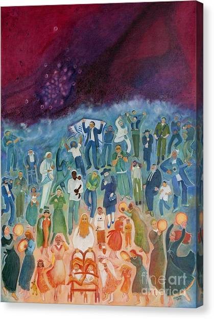 Passover Not Only Our Fathers Canvas Print by Chana Helen Rosenberg