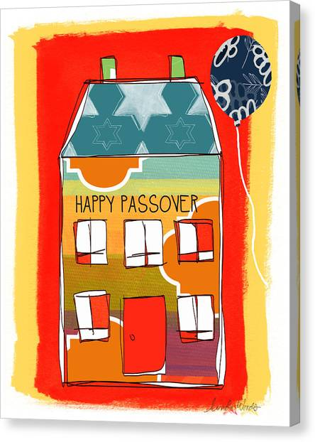Easter Canvas Print - Passover House by Linda Woods