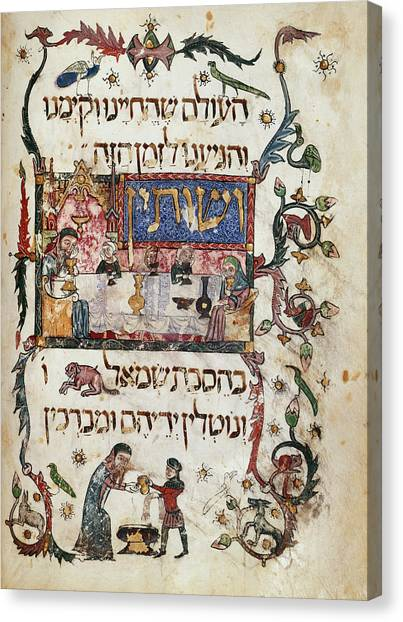 Passover Canvas Print - Passover Scene by British Library