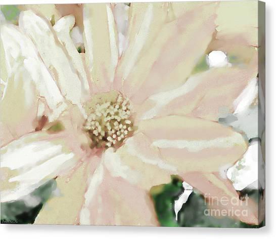 Pastel Daisy Photoart Canvas Print