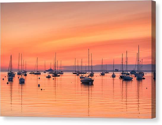 Pastel Harbor Canvas Print