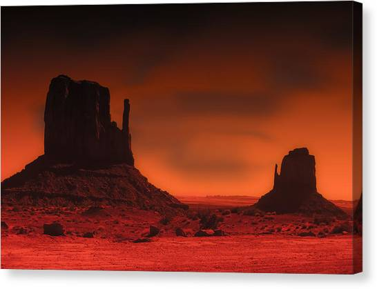 Pastel Monument Valley Canvas Print by Gary Cain