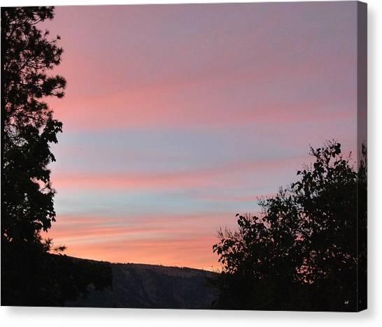 Okanagan Valley Canvas Print - Pastel Okanagan Sunset by Will Borden