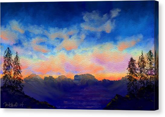 Pastel Sky Canvas Print by Kerry Mitchell