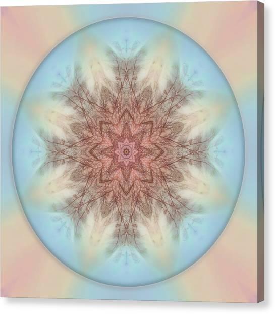 Pastel Sky Mandala Canvas Print
