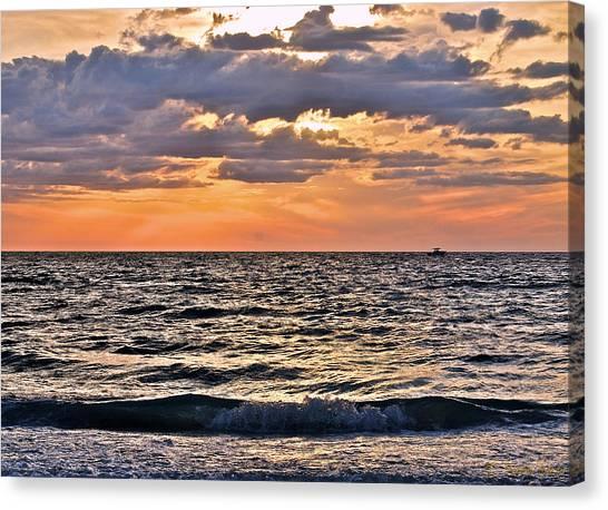 Pastel Sunset 1 Canvas Print by Lisa Merman Bender