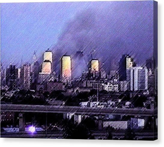Pastel Sunset On Ground Zero Canvas Print