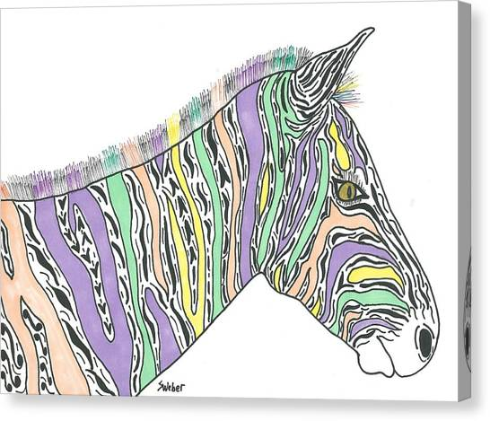Pastel Zebra  Canvas Print