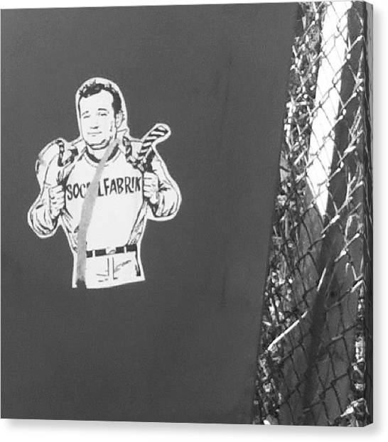 Ghostbusters Canvas Print - #pasteup #streetart #ghostbusters by Manchester Flick Chick