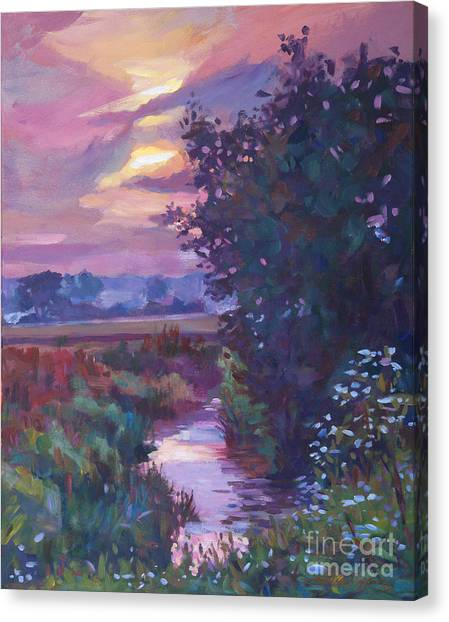 Pastoral Morning Canvas Print by David Lloyd Glover