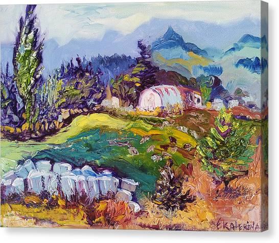 Pastures Landscape Oil Painting Canvas Print