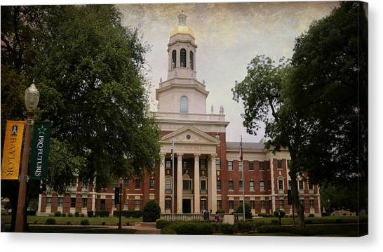 Baylor University Canvas Print - Pat Neff Hall - Baylor University by Stephen Stookey