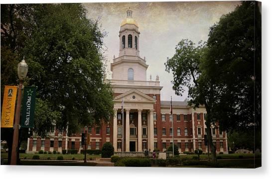 Texas State University Texas State Canvas Print - Pat Neff Hall - Baylor University by Stephen Stookey